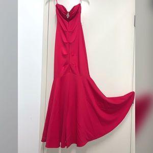 New Fuchsia Mermaid Dress